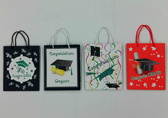 Ggt02 Glitter Graduation Celebration 4 Design Gift Bag
